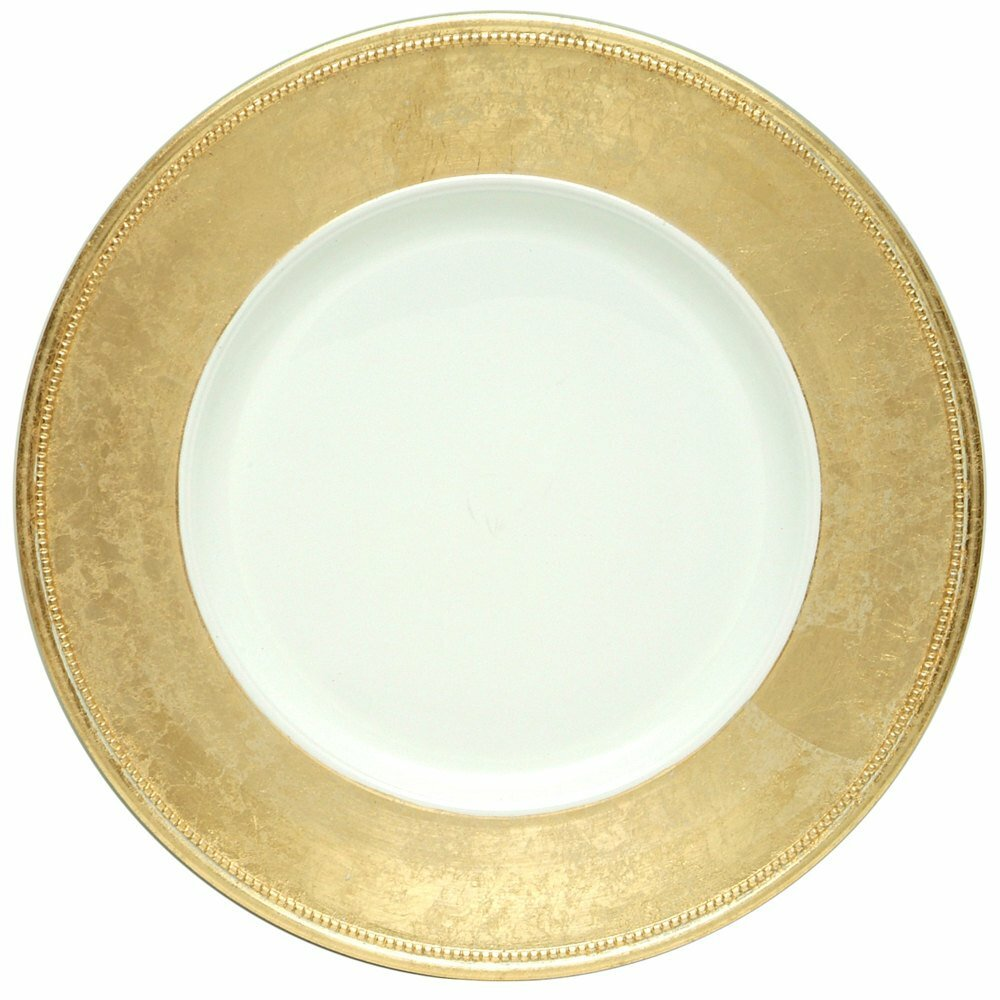 Charger Plate Gold Rimmed Glass