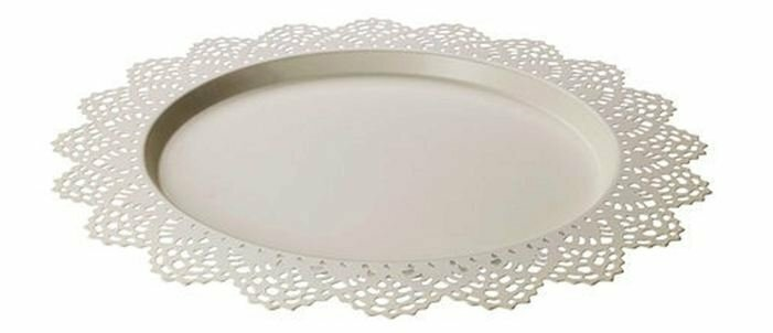Charger Plate White Lace